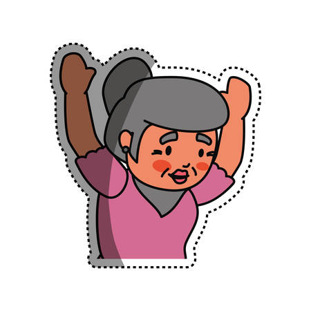 mature adult: grandmother elder cartoon icon vector illustration graphic design