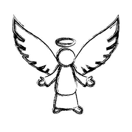 Holy spiritual angel icon vector illustration graphic design Illustration