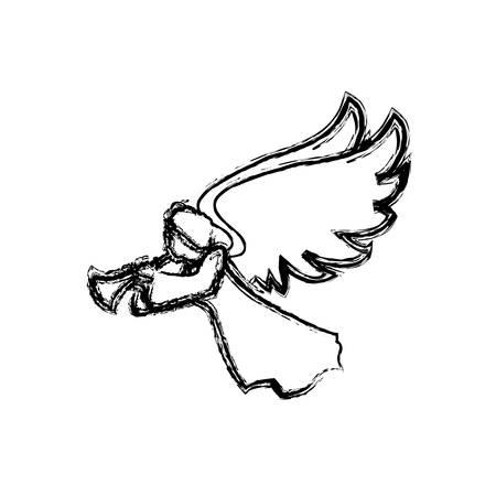 Heiliges geistiges Engel Symbol Vektor-Illustration Grafik-Design Standard-Bild - 75149967