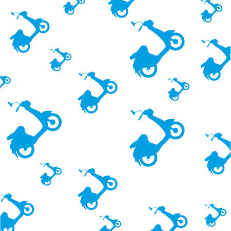 Scooter motorcycle silhouette icon vector illustration graphic design