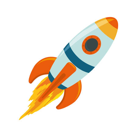 Spaceship rocket symbol icon vector illustration graphic design