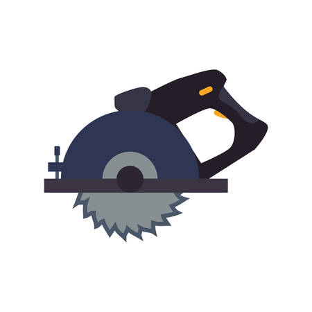 cirkelzaag timmerwerk tool vector pictogram illustratie grafisch ontwerp