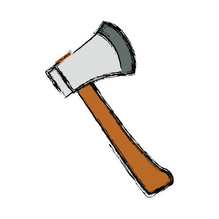 axe fire tool vector icon illustration graphic design