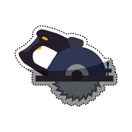 circular saw carpentry tool vector icon illustration graphic design Illustration