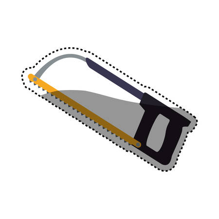 coping saw carpentry tool vector icon illustration graphic design