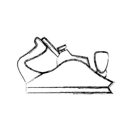 smoothing: metal smoothing plane carpentry tool vector icon illustration