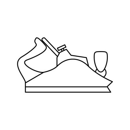 Metal Smoothing Plane Carpentry Tool Vector Icon Illustration
