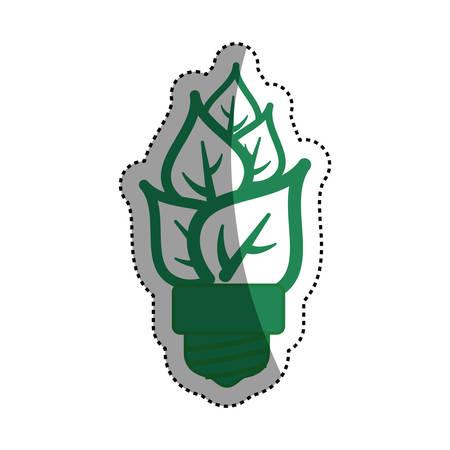 light bulb eco leaves vector icon illustration graphic design