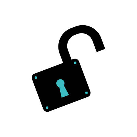 Padlock unlocked security object vector icon illustration graphic design. Vektorové ilustrace