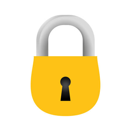 Padlock security object vector icon illustration graphic design. Illustration