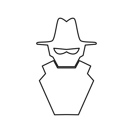 insecurity: Malware spyware symbol vector icon illustration graphic design.