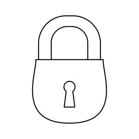 Padlock security object vector icon illustration graphic design. Illustration