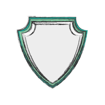 durable: Shield security abstract crest icon vector illustration.