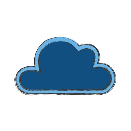 saved: Cloud abstract draw vector icon illustration graphic design.