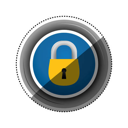 cipher: padlock security object frame vector icon illustration graphic design