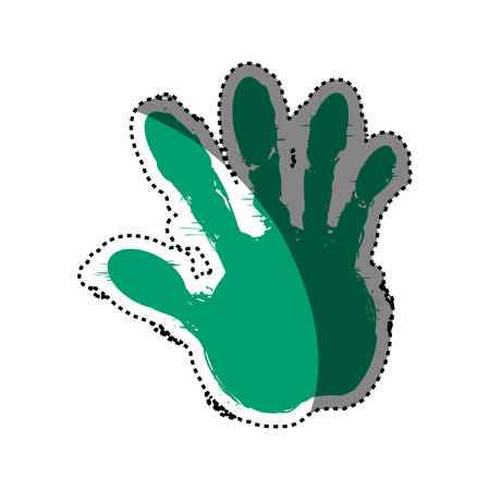 detected: hand fingers silhouette vector icon illustration graphic design