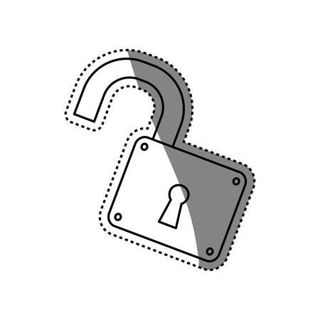 padlock unlocked security object vector icon illustration graphic design