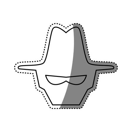 hacked: malware spyware head vector icon illustration graphic design Illustration