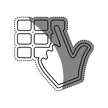 Keypad pointer hand vector icon illustration graphic design