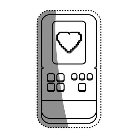 tetris: Tetris videogame console icon vector illustration graphic design Illustration