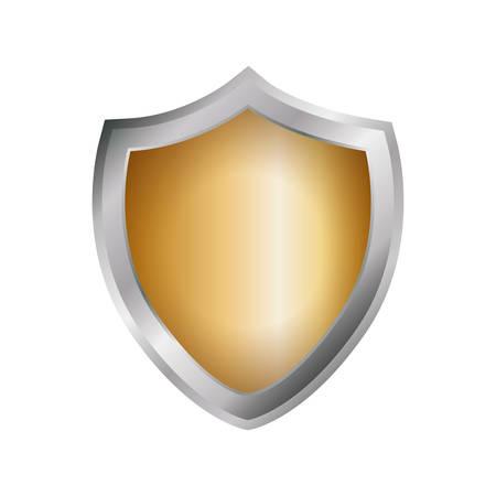 trade secret: Empty shield emblem icon vector illustration graphic design Illustration