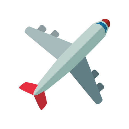 Jet airplane isolated icon vector illustration graphic design