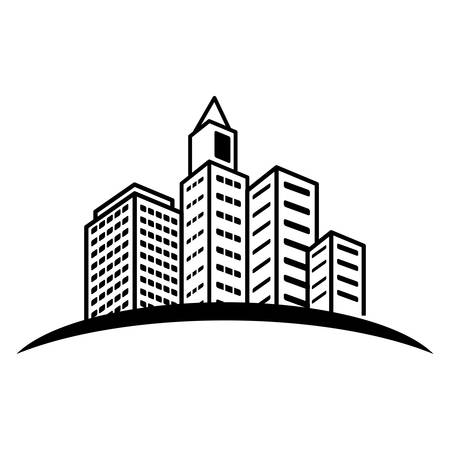 city building icon image vector illustration design
