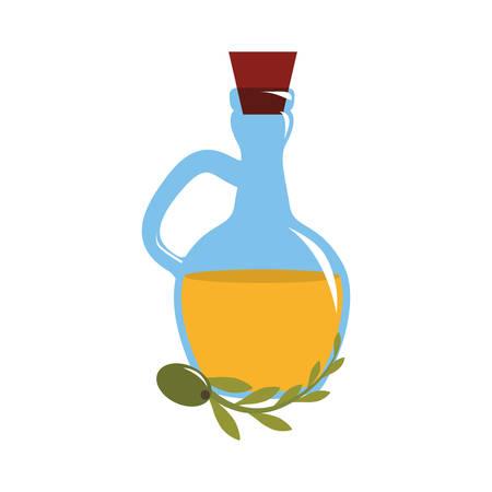 bottle of olive oil icon over white background. colorful design. vector illustration