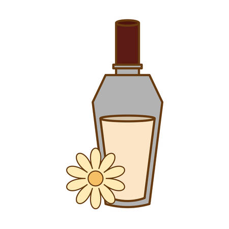 spa still life: perfume bottle icon image vector illustration design