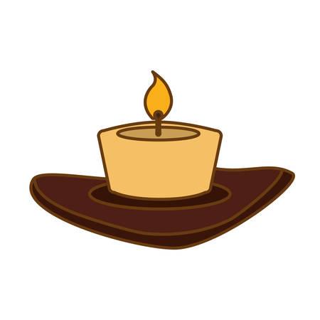 candle house decoration icon image vector illustration design Illustration