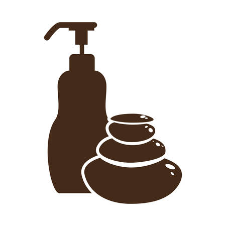 lotion dispenser spa related icon image vector illustration design