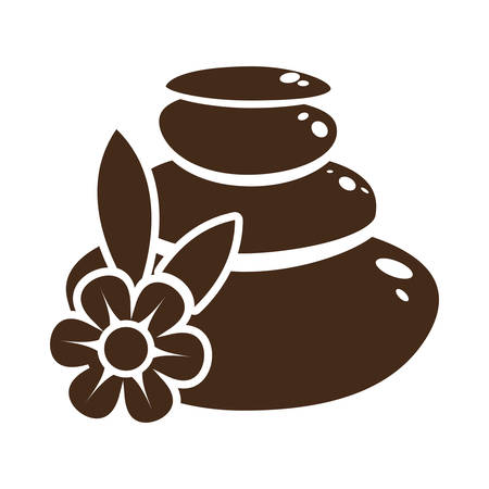 pampering: stones spa related icon image vector illustration design