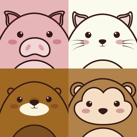 animals icon. colorful design. vector illustration