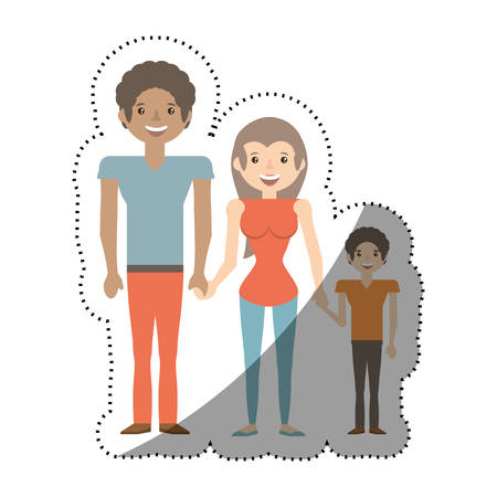 family people together with shadow vector illustration eps 10