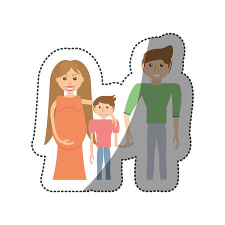 latina: family pregnant unity people vector illustration eps 10