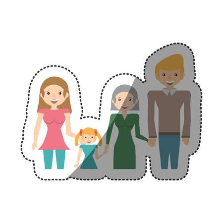 people family members lovely vector illustration eps 10