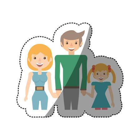 people family together image vector illustration eps 10 Illustration