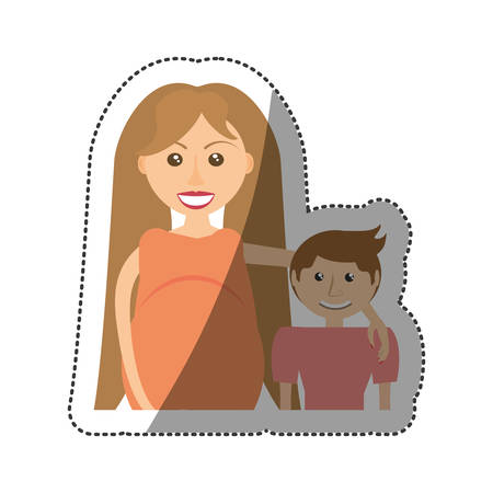 family pregnant unity people vector illustration eps 10