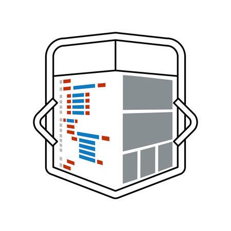 function key: HTML programming code icon vector illustration graphic design