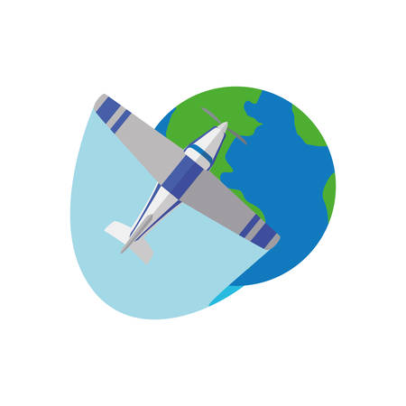 Small airplane isolated icon vector illustration graphic design. Illustration