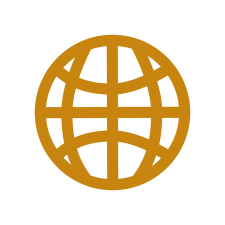 Global sphere symbol icon vector illustration graphic design.