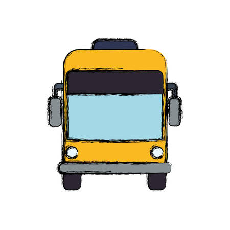 Bus public transport icon vector illustration graphic design.
