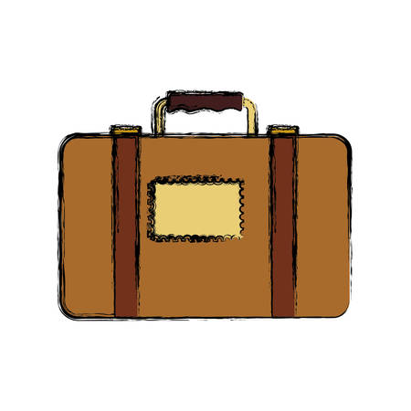 Travel suitcase isolated icon vector illustration graphic design.