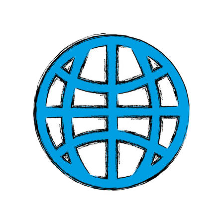 Diseño gráfico del ejemplo del vector del icono de la esfera global de la esfera.