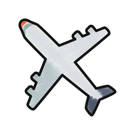 jetliner: Jet airplane isolated icon vector illustration graphic design.