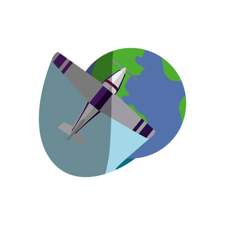 Small airplane isolated icon vector illustration graphic design