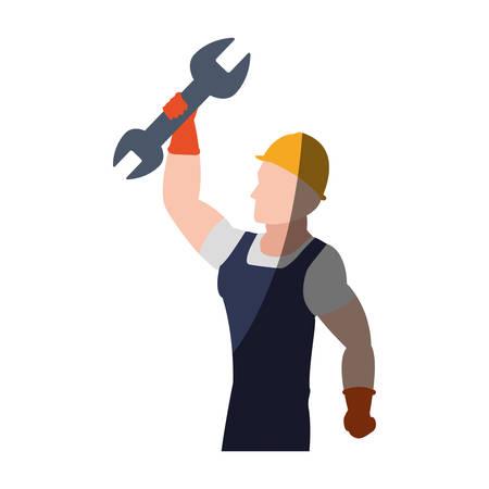 Construction worker profile icon vector illustration graphic design