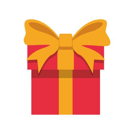 Diseño gráfico del ejemplo del vector del icono del presente de la caja de regalo.