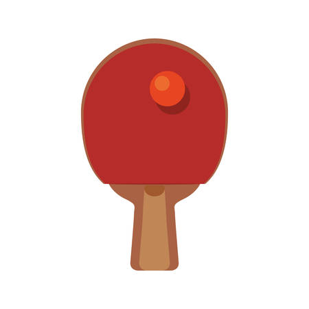 Ping pong racket icon vector illustration graphic design.