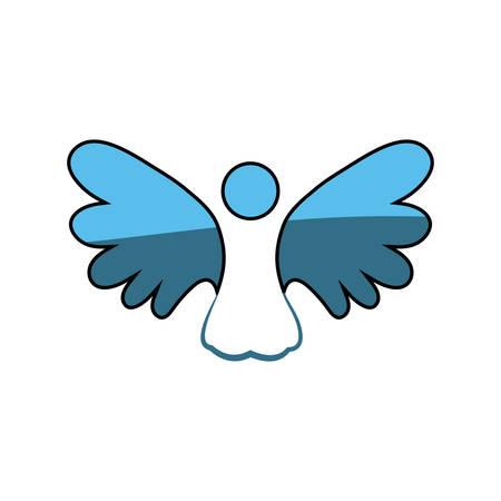 이런 영적 천사 아이콘 벡터 일러스트 그래픽 디자인 일러스트